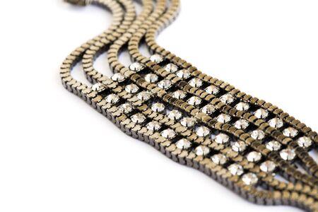 brilliants: Bracelet with stones isolated on white background.