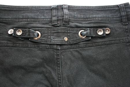 Black jeans closeup picture. photo