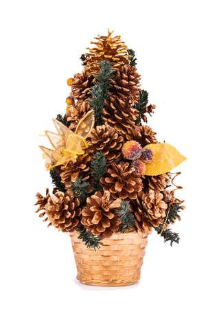Christmas tree decoration isolated on white background. photo