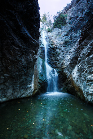 Millomeri waterfalls in Platres near Troodos, Cyprus. photo