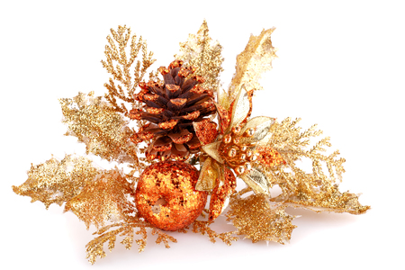 Christmas decoration isolated on white background. photo