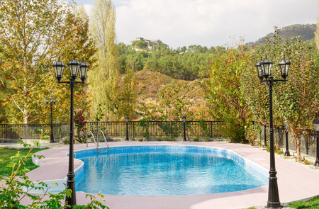 holiday villa: Swimming pool at holiday villa in Cyprus.