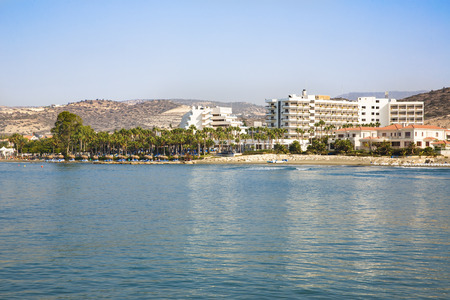 limassol: Tropical beach in Limassol, Cyprus.