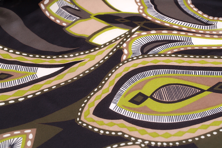 printed material: Colorful fabric background closeup picture.