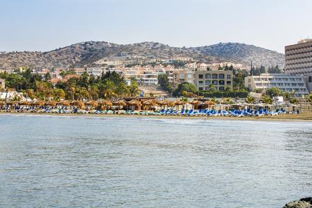 Tropical beach in Limassol, Cyprus.