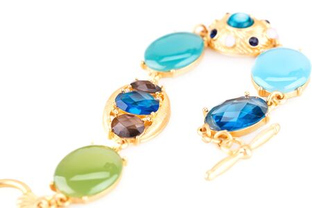 personal ornaments: Stylish bracelet  isolated on white background. Stock Photo