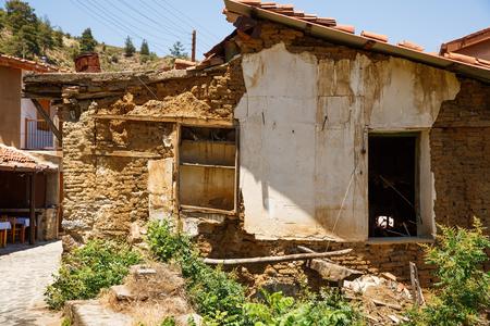 Old houses in Kakopetria village, Cyprus. Stock Photo