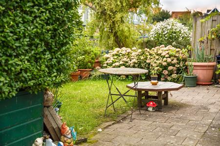 The garden furniture in the Dutch fisherman village Marken.