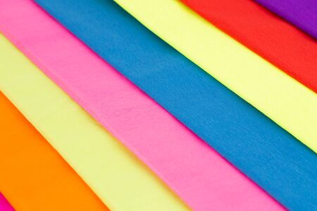 Colorful crepe papers texture as a background. Stock Photo