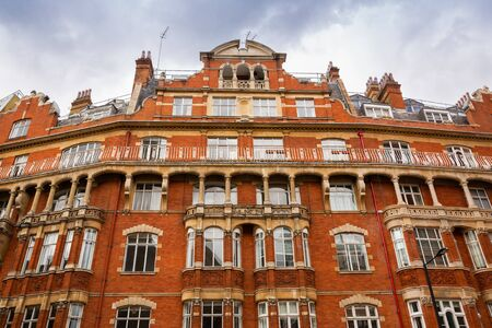 Old building with beautiful architecture in London, UK.