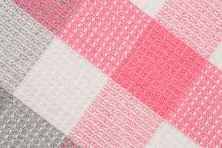 Colorful kitchen towel texture as a background, horizontal picture.