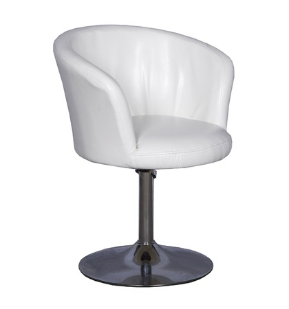 convenient round iron chair on a leg on a white background 版權商用圖片