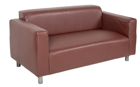 Brown sofa on a white background Stock Photo