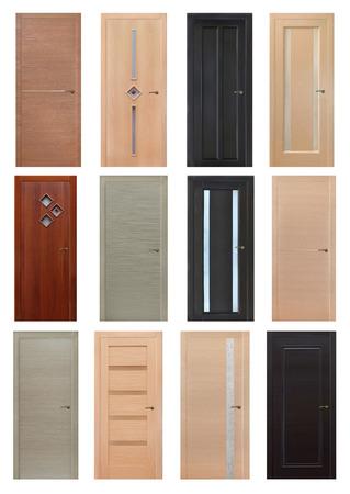 Indoor Doors Isolated Stock Photo   53786831
