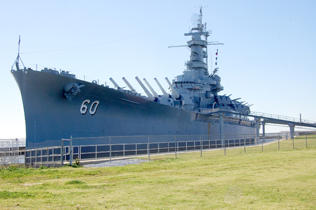 The Battleship USS Alabama as a museum ship in Mobile Alabama