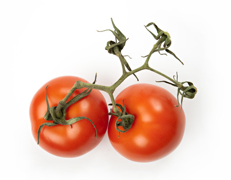 Red tomatoes - two photo