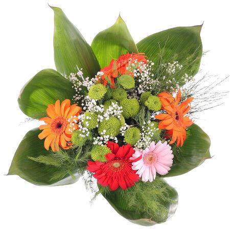 Bright bouquet. Gerbera flowers. photo