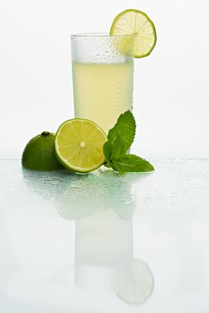 Glass with cold lemonade Stok Fotoğraf