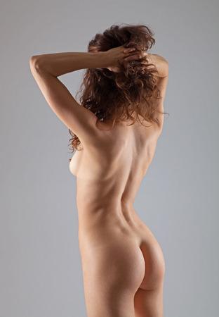 Ejercicios de yoga mujer haciendo desnudos Sexy