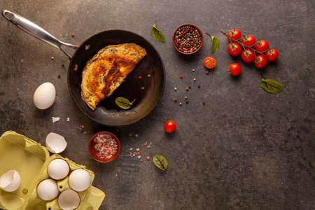 Preparations for breakfast made up of eggs stock photo Animal Egg, Egg, Bread, Breakfast, Cholesterol Stok Fotoğraf