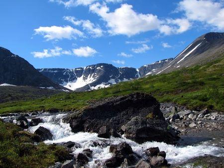 The Mount Yudychvumchorr                          Stock Photo