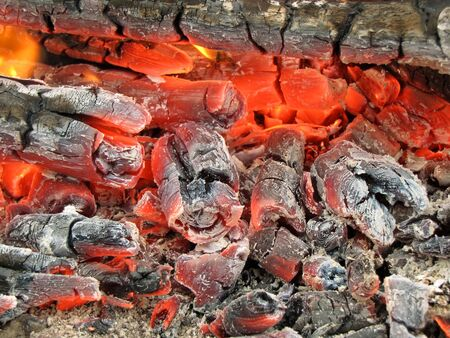 burning embers                                photo