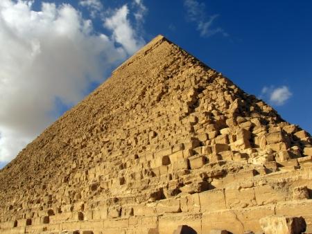 giza: Great Pyramid of Giza, Egypt                                Stock Photo