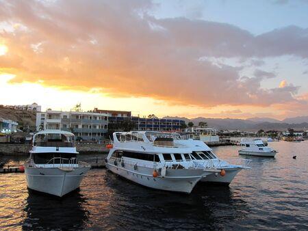 Bay with yachts in Egypt, Sharm el Sheikh