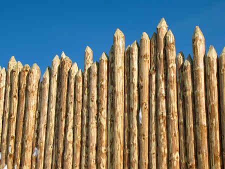 paling: Wooden paling                                Stock Photo