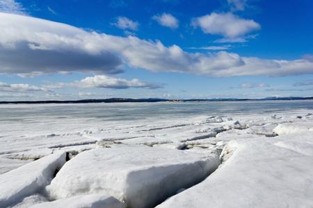 crevasse: Sea ice