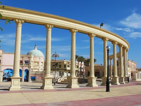 Colonnade in Sharm El Sheikh, Egypt