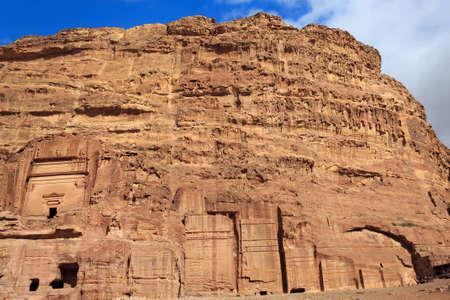 Tombs in Petra, Jordan photo