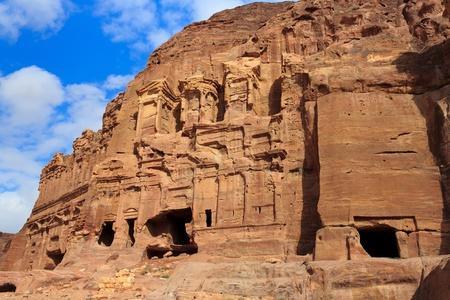 corinthian: The Palace and Corinthian Tombs, Petra, Jordan Stock Photo
