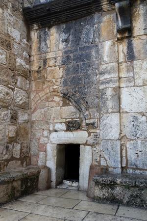 arrepentimiento: Entrada a la Iglesia de la Natividad en Bel�n, en Palestina