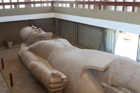 Statue of Ramses II found at Memphis, Egypt