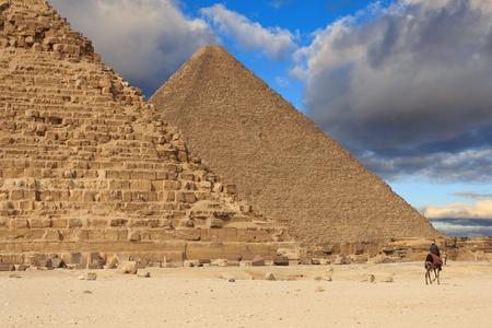 chephren: Pyramid of Khafre and the Pyramid of Cheops, Egypt