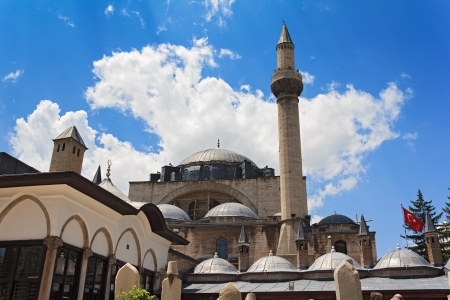 The Mevlana museum, located in Konya, Turkey, is the mausoleum of Jalal ad-Din Muhammad Rumi Stock Photo - 14389022