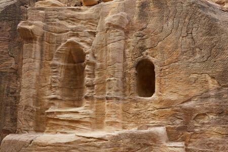 Ruinas en Bab as-Siq, Petra, Jordania photo