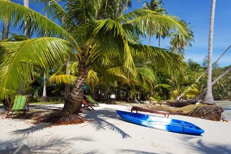 kood: Canoe on the beach of the Koh Kood island, Thailand