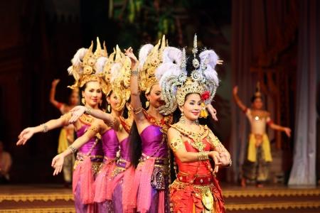 Traditional Thai show in a Nongnooch Garden in Pattaya, Thailand December 22, 2012