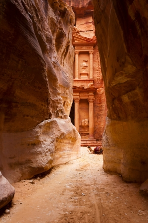 Al Khazneh or The Treasury at Petra, Jordan photo