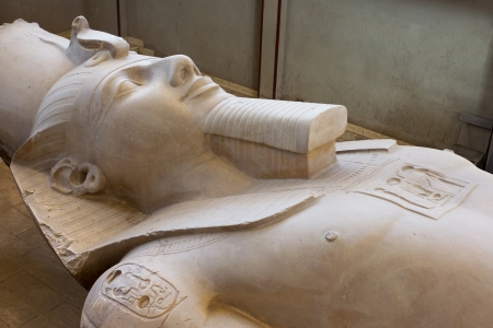 The Statue of Ramses II found at Memphis, Egypt