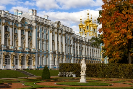 Catherine Palace in Tsarskoye Selo  Pushkin , Russia