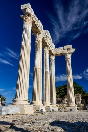 Temple of Apollo, Side, Turkey Stock Photo