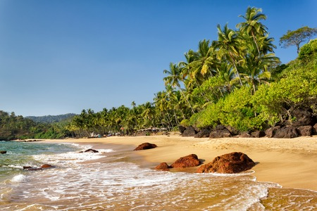 Cola Beach in South Goa, India photo