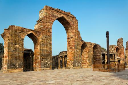The Iron Pillar in the Qutb complex, Delhi, India  photo