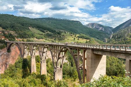 tara: Durdevica Tara Bridge over the Tara River in northern Montenegro Editorial