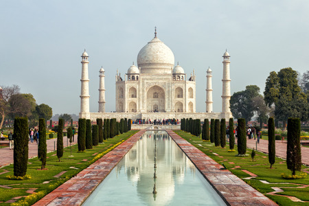 pradesh: The Taj Mahal  is a white marble mausoleum located in Agra, Uttar Pradesh, India.