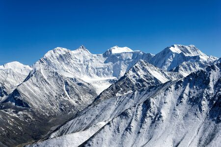 at the highest: Belukha - highest peak of Altai mountains, Russia
