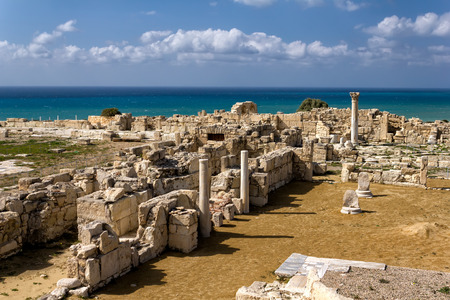 Ruinas de Kourion, una antigua ciudad griega en Chipre